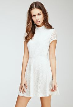 Lace Fit & Flare Dress | FOREVER21 - 2000079385