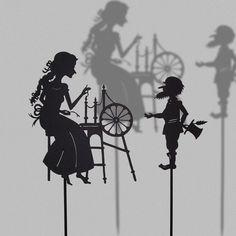 Rumpelstiltskin / Laser cut Shadow Puppets / Fairy Tale Series via Etsy