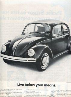 1970s VW Bug Advertisement via Etsy