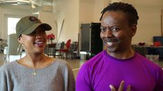 """It's a meeting of two characters from different cultures… And they're using dance as a metaphor for how they meet. It's love, it's sex, it's rhythm of life and movement.""  Choreographer Byron Easley and Assistant Choreographer Lauren EJ Hamilton share the story behind the dance that accompanies one of the many ear-worm songs @universesnyc co-composed with Toshi Reagon and Broken Chord for their new musical, #UniSonOSF. #OSF2017 #AugustWilson #NewPlay osfashland.org/UniSon"