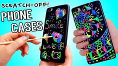 DIY Scratch-Off Phone Cases! NO Wax Crayons! For this project you will need any phone case that fits your phone, it doesn't have to be transparent or anything Cell Phone Cases, Iphone Cases, Phone Covers, Diy Phone Case Design, Iphone Price, Diy Step By Step, Wax Crayons, Nail Art Diy, Cool Diy