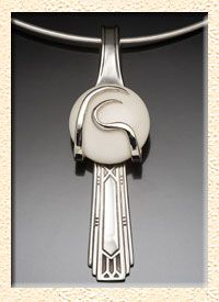 Pendant made from a silver fork! How cool is that?