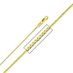 "14K Yellow Gold 0.8mm Box Link Chain Necklace with Lobster Claw Clasp - 22"" Inches The World Jewelry Center. Save 58 Off!. $170.00. Promptly Packaged with Free Gift Box and Gift Bag. High Polished Finish"
