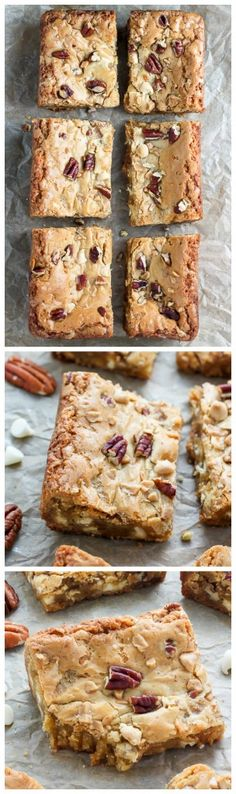 Thick and Chewy White Chocolate Butter Pecan Blondies. Ready in 30 minutes!