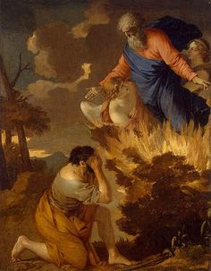 17th C.Moses and the Burning Bush. French baroque painter Sebastien Bourdon Hermitage Museum