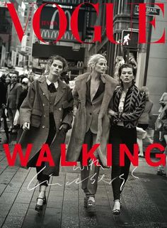 Carolyn Murphy, Isabeli Fontana, and Milla Jovovich by Peter Lindbergh for Vogue Italia, October Issue 2016