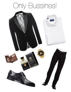 """""""Bussines Man!"""" by maidpolyvore ❤ liked on Polyvore featuring DAVID DONAHUE, Dockers, Nixon, Alexander McQueen, PENHALIGON'S, men's fashion and menswear"""