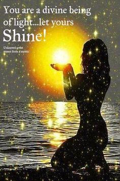 You are a Divine being of light. let yours shine Zen Meditation, Image Yoga, 3 Chakra, Arte Tribal, Divine Feminine, Sacred Feminine, Spiritual Awakening, Love And Light, Law Of Attraction