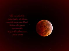 Blood Moon Acts 2:20
