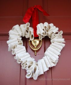 Super easy Valentines Day wreath idea!  Check out my door decor for Valentines Day! V-day is one of my fav holidays, for real. Youll find out why a little later, in another post. Anyways, this is the project Im doing with a craft group at church