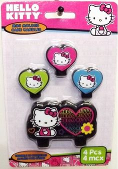 Hello Kitty 'Neon Tween' Mini Molded Cake Candles (4ct)