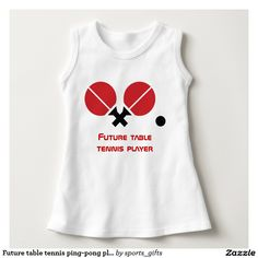 Future table tennis ping-pong player rackets, ball Baby Sleeveless Dress