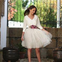 Faldas de tul en invitadas y novias   Innovias