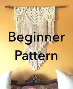 This Listing is for the Macramé Pattern to make the above Swag Wall Hanging Beauregard. Although this is a Beginner Macramé Pattern using only Beginner Knots you should try a more simple pattern first. Here are some options. Beginner Macramé Triple Artemis Wall Hanging