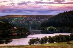 Sunset over Pen-Y-Gareg Dam, Rhayader Dams, Elan Valley, Wales