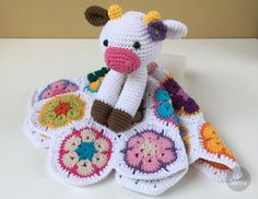 Instant download - - This listing is only a PDF PATTERN, not a finished product - Happy Cow Lovey is a soft toy and security blanket all in one! Its perfect for babys little hands and will surely become a friend for your baby. You can create something really special for your little one!