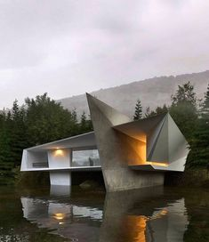Concept House by JB Arquitectura Concept Architecture, Futuristic Architecture, Beautiful Architecture, Contemporary Architecture, Interior Architecture, Contemporary Houses, Contemporary Design, Futuristic Home, Architecture Diagrams