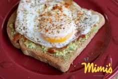 Avocado eggy toast. My favorite post workout meal.