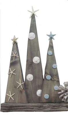 Coastal Wood Christmas Trees - The Project Cottage
