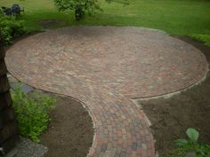 brick patios pictures ideas   Reclaimed-Brick Patio, Cumberland Foreside, Maine