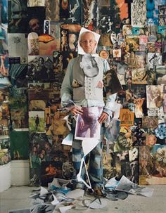 artist Peter Armstrong in his London apartment, photograph by Tim Walker