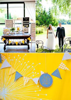 #yellow #wedding #summer