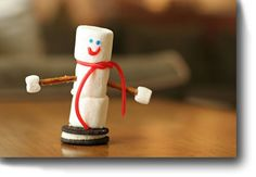 snowman kit – adorable! Model and snack elective