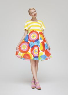 To know more about marimekko tytar, visit Sumally, a social network that gathers together all the wanted things in the world! Featuring over other marimekko items too! 1960s Fashion, Girl Fashion, Fashion Dresses, Fashion Design, Modest Outfits, Girl Outfits, Cute Outfits, Marimekko Dress, Jumpsuit Dress