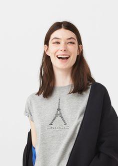 Cotton modal-blend t-shirt   MANGO
