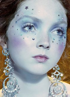 """Lily Cole in """"So Poetic"""" By Miles Aldridge For Vogue Italia, August 2006"""