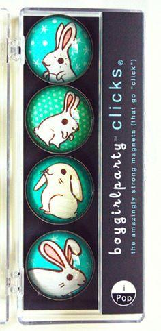 the shop at boygirlparty.com   snow bunny magnet set