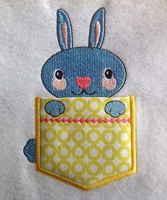 Pocket Topper Bunny<br> 3.71w X 5.98h