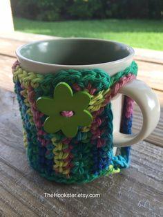 Handmade Crochet Coffee Mug Cozy in Variegated by TheHookster