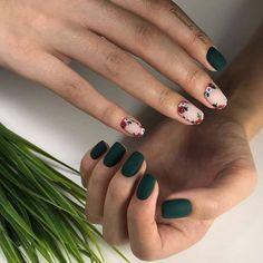 - - Vernis à ongles – Nails FoxyNails: Maniküre, Nageldesign Stylish Nails, Trendy Nails, Classy Nails, Cute Acrylic Nails, Cute Nails, Nail Art Vert, Nail Manicure, Nail Polish, Pedicure