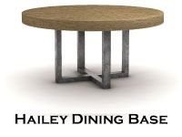 Great base --- lots of finishes.  top sold separately.  www.cjwelchnorth.com  or email gretchens@welchware.com