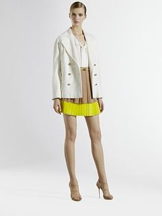Gucci Resort '12 entire outfit $2350. love that neutral and neon pairing.