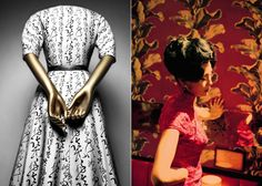 """Quiproquo"" cocktail dress, Christian Dior; Frame do filme ""In the Mood for Love."" - Foto: Divulgação"