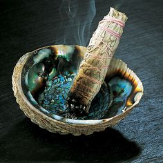 Smudging, a ritual to remove negativity, is the common name given to the Sacred Smoke Bowl Blessing, a powerful Native American cleansing technique. Smoke attaches itself to negative energy, removing it to another space. Smudging is a wonderful way. Smudging Prayer, Sage Smudging, Meditations Altar, Burning Sage, Purifier, Smudge Sticks, Abalone Shell, Native American Indians, Magick