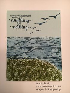 Simple card using High Tide Stamp Set from Stampin' Up!