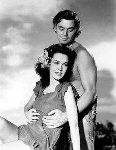 Film Star Weissmuller Johnny Tarzan the Ape Man Maureen O'sullivan, Tarzan And Jane, Tarzan Of The Apes, Hollywood Stars, Classic Hollywood, Old Hollywood, Hollywood Glamour, Classic Actresses, Classic Films