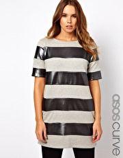 ASOS CURVE Shift Dress With Metallic Stripe