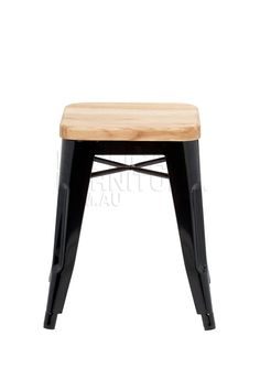 Replica Xavier Pauchard Low Stool with Wood Top | Replica Stools Online | Designer Furniture