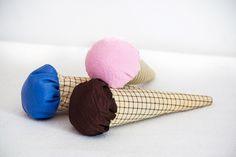 Materiałowe lody.   #materiał #lody #slodkie #tkanitka