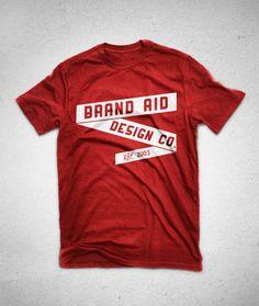t shirt design for brand aid design co