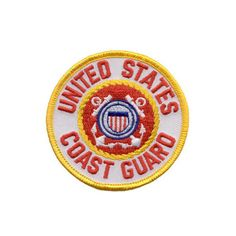 """Coast Guard Patch-This handsome fully embroidered US Coast Guard patch measures 3"""" in diameter and features a rich gold border."""