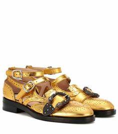Embellished leather sandals   Gucci