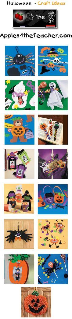 Fun Halloween crafts for kids - Halloween craft ideas for children.