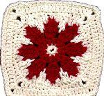 Red flower, found on : http://kaleidesigns.com/crochet/patterns/archive/gran012.html