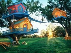 This has a touch of Seuss to it.   #udderlysmooth #treehouses