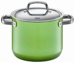 Silit 5-Quart Stockpot with Lid, Lemon Green by Silit. $241.01. Extra sturdy steel core provides optimal heat distribution and energy conservation. Extremely durable and hygienic steel ceramic exterior; Tests have proven colors will not fade even after 1000 cycles in the dishwasher. Modern, ergonomically designed all-metal handles are heat insulating and oven proof. High quality stainless steel lid locks in water and heat. Interior features ultra hard, scratch-resistant smooth...